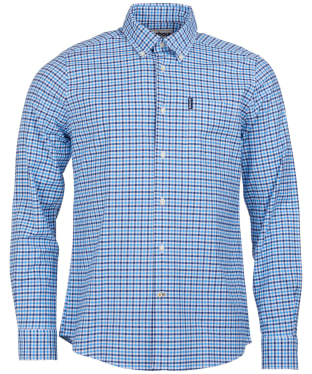 Men's Barbour Gingham 11 Tailored Shirt - Blue