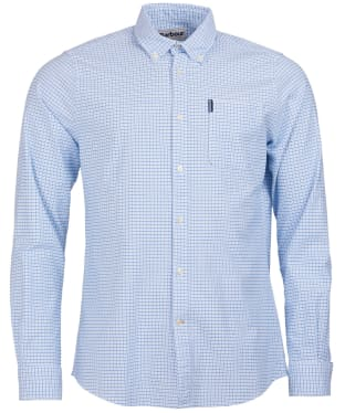 Men's Barbour Tattersall 10 Tailored Shirt - Blue
