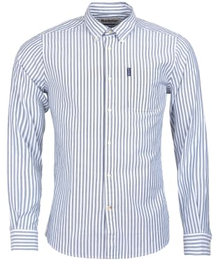Men's Barbour Stripe 6 Tailored Shirt - Forest Stripe