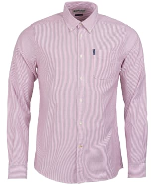Men's Barbour Stripe 7 Tailored Shirt - Red