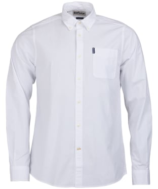 Men's Barbour Stretch Poplin 1 Tailored Shirt - White