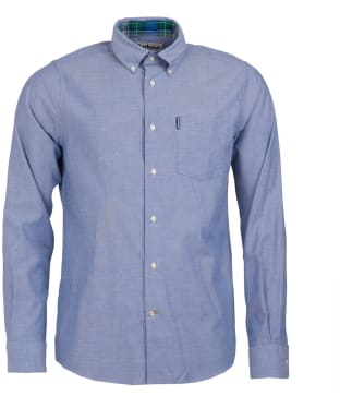 Men's Barbour Stretch Twill 1 Tailored Shirt - Denim Blue