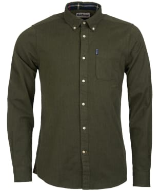 Men's Barbour Herringbone 1 Tailored Shirt - Forest