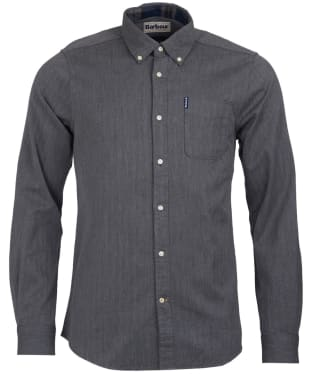 Men's Barbour Herringbone 1 Tailored Shirt - Grey Marl