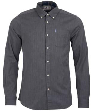Men's Barbour Herringbone 1 Tailored Shirt - Grey Marl