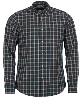 Men's Barbour Highland Check 8 Tailored Shirt - Green Check