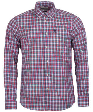 Men's Barbour Highland Check 8 Tailored Shirt - Red Check