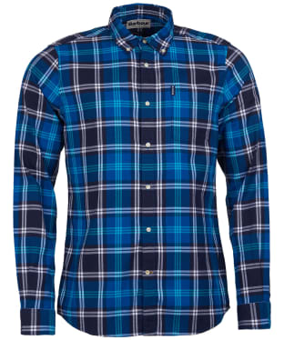 Men's Barbour Highland Check 10 Tailored Shirt - Blue Check
