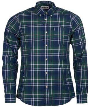 Men's Barbour Highland Check 10 Tailored Shirt - Green Check