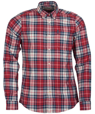 Men's Barbour Highland Check 10 Tailored Shirt - Red Check