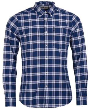 Men's Barbour Highland Check 11 Tailored Shirt - Blue Check