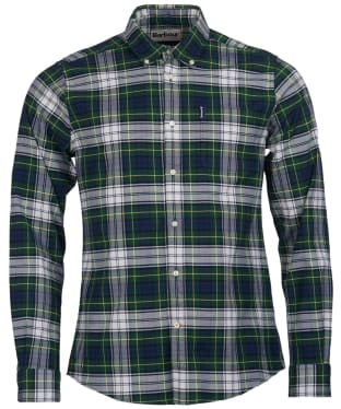 Men's Barbour Highland Check 11 Tailored Shirt - Green Check