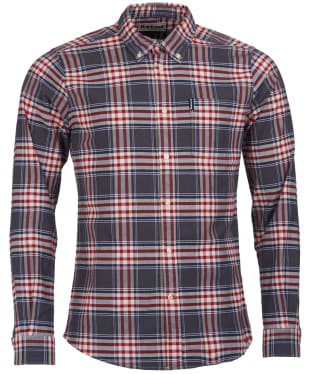 Men's Barbour Highland Check 11 Tailored Shirt - Grey Marl Check