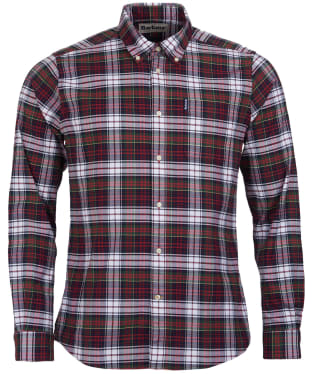 Men's Barbour Highland Check 11 Tailored Shirt - Red Check