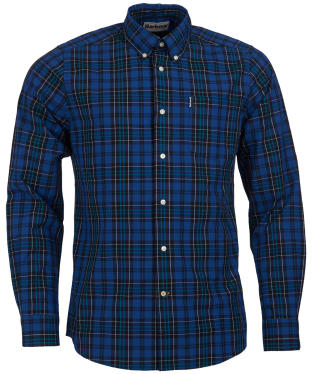 Men's Barbour Highland Check 9 Tailored Shirt - Blue Check