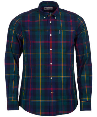 Men's Barbour Highland Check 9 Tailored Shirt - Green Check