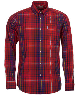 Men's Barbour Highland Check 9 Tailored Shirt - Red Check
