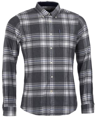 Men's Barbour Highland Check 18 Tailored Shirt - Grey Marl Check