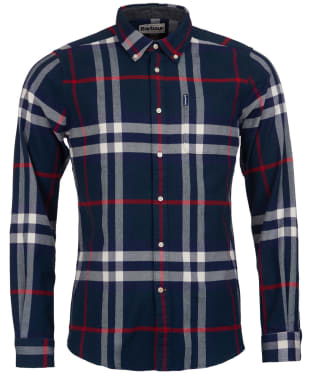 Men's Barbour Highland Check 18 Tailored Shirt - Navy Check