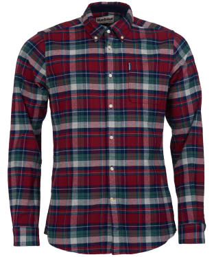 Men's Barbour Highland Check 18 Tailored Shirt - Red Check