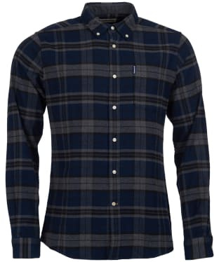 Men's Barbour Highland Check 19 Tailored Shirt - Grey Marl Check