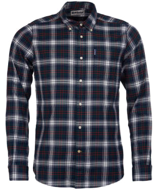 Men's Barbour Highland Check 21 Tailored Shirt - Green Check