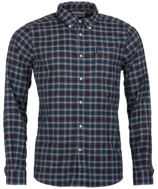 Men's Barbour Highland Check 21 Tailored Shirt - Grey Marl Check