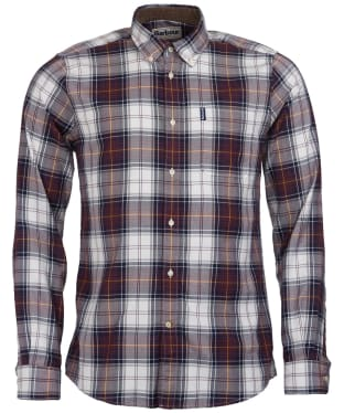 Men's Barbour Highland Check 20 Tailored Shirt - Brown Check