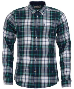 Men's Barbour Highland Check 20 Tailored Shirt - Green Check