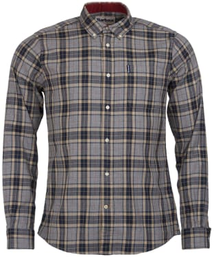 Men's Barbour Highland Check 20 Tailored Shirt - Grey Marl Check