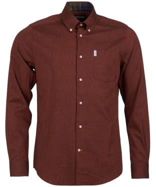 Men's Barbour Lambton Shirt - Russet Brown