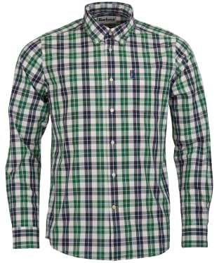 Men's Barbour Country Check 1 Tailored Shirt - Ecru Check