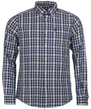 Men's Barbour Country Check 2 Tailored Shirt - Blue Check