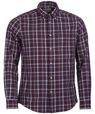 Men's Barbour Country Check 2 Tailored Shirt - Red Check