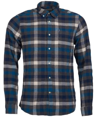 Men's Barbour Country Check 5 Tailored Shirt - Blue Check