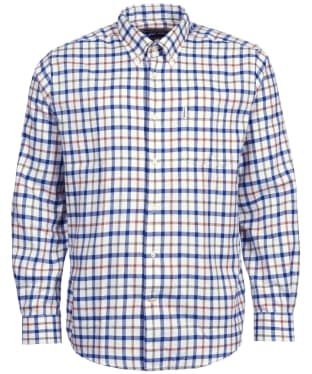Men's Barbour Thermo-Tech Coll Shirt - Ecru Check