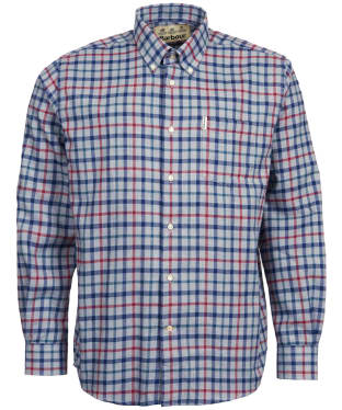 Men's Barbour Thermo-Tech Coll Shirt - Grey Marl Check
