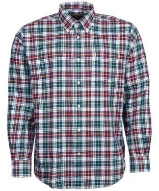 Men's Barbour Thermo-Weave Lund Shirt - Red Check
