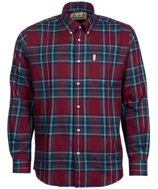 Men's Barbour Thermo-Weave Dalby Shirt - Red Check