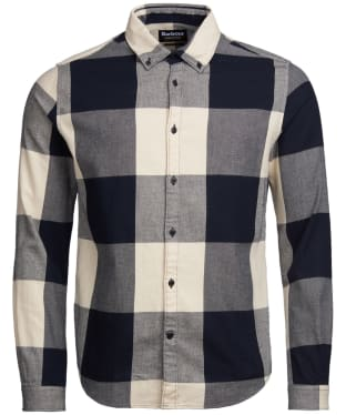 Men's Barbour International Large Gingham Shirt - Black