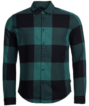 Men's Barbour International Large Gingham Shirt - Green