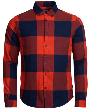 Men's Barbour International Large Gingham Shirt - Red