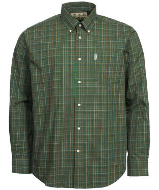 Men's Barbour Tattersall 9 Regular Shirt - Green Check