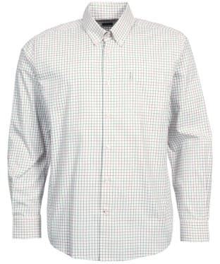 Men's Barbour Tattersall 9 Regular Shirt - Purple Check