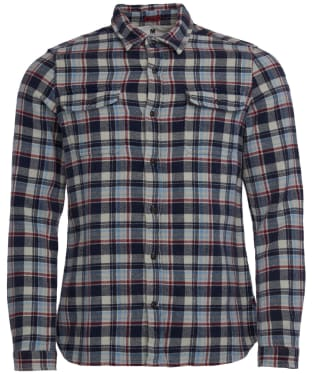 Men's Barbour International Steve McQueen Rick Shirt - Navy Check
