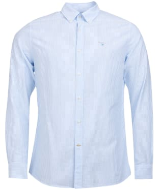 Men's Barbour Stripe 9 Tailored Shirt - Sky