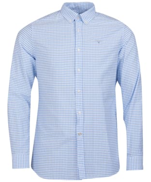 Men's Barbour Tattersall 12 Tailored Shirt - Sky