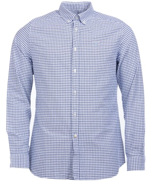 Men's Barbour Tattersall 12 Tailored Shirt - Indigo