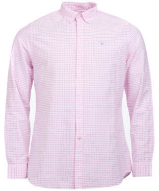 Men's Barbour Tattersall 12 Tailored Shirt - Pink
