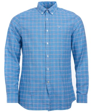 Men's Barbour Highland Check 22 Tailored Shirt - Blue Check